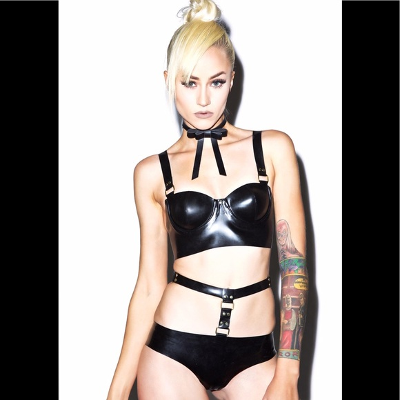93f2f3594de Jane Doe Latex Other - New Jane Doe Latex Hardware Harness Set